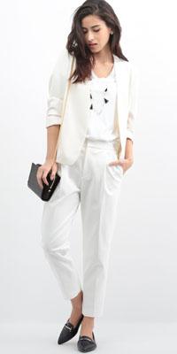 ROPÉ - ロペ | オール白スタイルは素材のメリハリと小物使いが洗練イメージのカギに(2016/04/28)