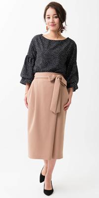 ViS - ビス | ドット×タイトスカートで大人ガーリースタイル(2017/02/14)
