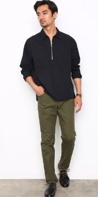ADAM ET ROPÉ HOMME - アダム エ ロペ オム | ワークシャツのボックスシルエットを元にしたプルオーバーシャツ。(2017/03/16)