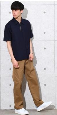 ADAM ET ROPÉ HOMME - アダム エ ロペ オム | 夏に最適なCOOL MAX素材を使用したハーフジップTシャツ(2017/05/02)