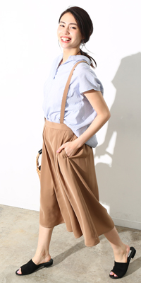 ViS - ビス | 今年らしい着こなしをメイクするサスペンダー付きパンツ(2017/07/11)