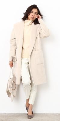 ROPÉ - ロペ    【ON】 なめらかなボア面を表側にして上品リッチなワントーンスタイルに(2017/10/27)