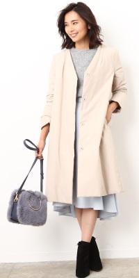 ROPÉ - ロペ   【ON】フードを外してすっきりフェミニンな通勤スタイルに。スカートとも好相性(2017/11/28)