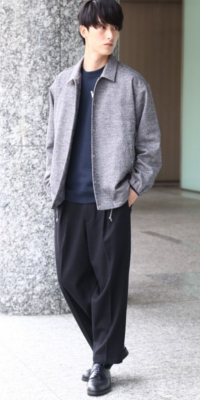 JUNRed - ジュンレッド | 【JUNRed】ラフに着てもサマになるコーチジャケット。さりげなく品の良さが漂うヘリンボン柄で大人っぽい印象に。(2017/12/04)