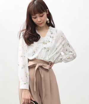 ViS - ビス   【先行予約】フラワープリントスキッパーシャツ