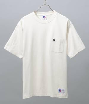 ADAM ET ROPÉ HOMME - アダム エ ロペ オム | 【RUSSELL×ADAM ET ROPE'】刺繍ポケットTシャツ