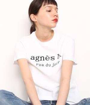 ADAM ET ROPÉ FEMME - アダム エ ロペ ファム   【先行予約】【agnès b. pour ADAM ET ROPÉ】LOGO  T-shirts