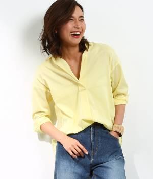 ROPÉ - ロペ | 【Oggi5月号掲載】リネン混スキッパーシャツ