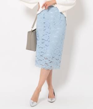 ROPÉ - ロペ   【セレモニースタイル対象商品】【Domani3月号掲載】コードレースタイトスカート