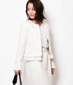 ViS - ビス   【セットアップ対応商品】ペプラム付きツイードジャケット