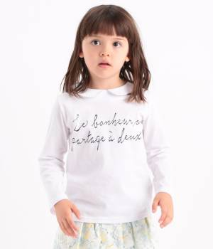 ROPÉ PICNIC KIDS - ロペピクニック キッズ | 【今だけ!J'aDoRe限定60%OFF】【ROPE' PICNIC KIDS】天衿付メッセージプリントTシャツ