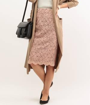 ROPÉ mademoiselle - ロペ マドモアゼル   起毛レースタイトスカート