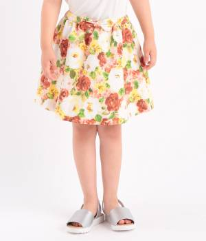 ROPÉ PICNIC KIDS - ロペピクニック キッズ   【ROPE' PICNIC KIDS】ぼかしフラワーリボンフレアスカート
