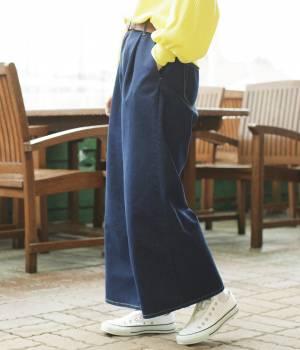 ViS - ビス   【先行予約】【追加予約】【sweet4月号掲載】ワイドデニムパンツ