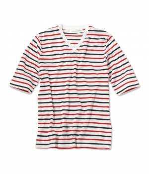 JUNRed - ジュンレッド | 【今だけ!WEB店舗限定70%OFF】先染めボーダー5分袖Tシャツ