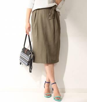 ROPÉ mademoiselle - ロペ マドモアゼル | 【ベルト付き】フロントベンツミドルタイトスカート