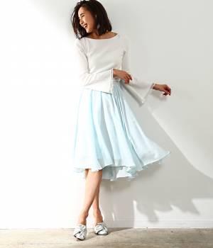 ROPÉ mademoiselle - ロペ マドモアゼル | 【先行予約】エアリーアシメフレアスカート