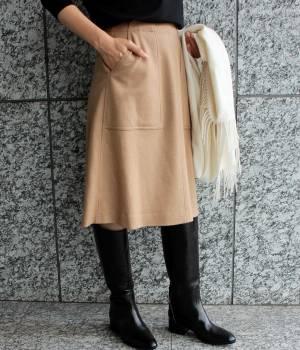 ADAM ET ROPÉ FEMME - アダム エ ロペ ファム | 圧縮ウール台形Aラインスカート