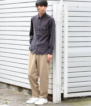 JUNRed - ジュンレッド   ネルストライプシャツ