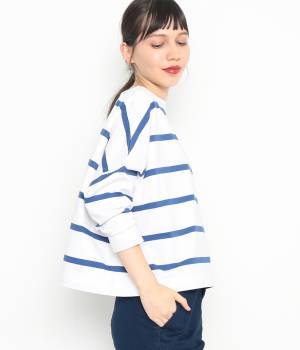 ADAM ET ROPÉ FEMME - アダム エ ロペ ファム | 【Traditional Weatherwear】 ビッグマリンボートネックシャツ