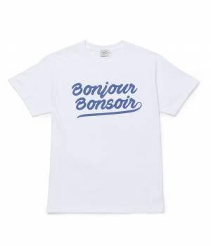 bonjour bonsoir - ボンジュールボンソワール | 【bonjour bonsoir】SMOOTH LOGO TEE