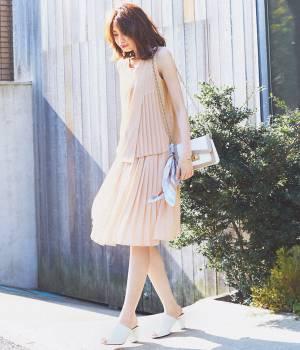ViS - ビス | 【with6月号掲載】ジョーゼットプリーツスカート
