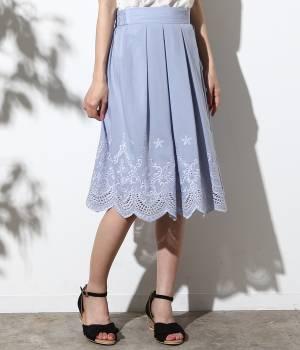 ROPÉ PICNIC - ロペピクニック | 【先行予約】スカラップ刺繍スカート