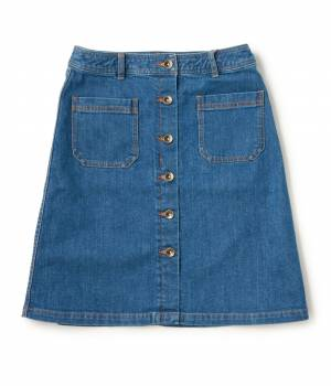 LE JUN WOMEN - ル ジュン  ウィメン | 【VERY5月号掲載】デニム台形ボタンダウンスカート