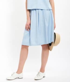 ViS - ビス   【EASY CARE】ウォッシャブルAラインスカート