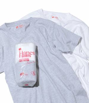 SALON adam et ropé WOMEN - サロン アダム エ ロペ ウィメン   【HANES】T-SHIRTS Japan Fit 2PAC FOR MEN (クルーネック)