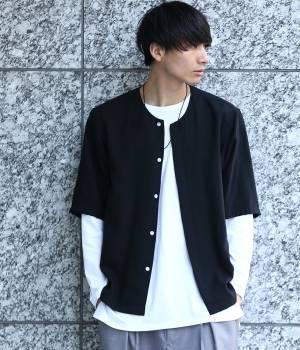 JUNRed - ジュンレッド | 【先行予約】ソフトドレープノーカラーシャツ
