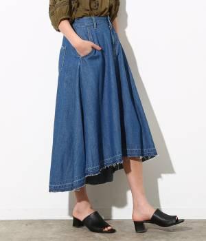 ViS - ビス   【先行予約】フィッシュテールデニムスカート