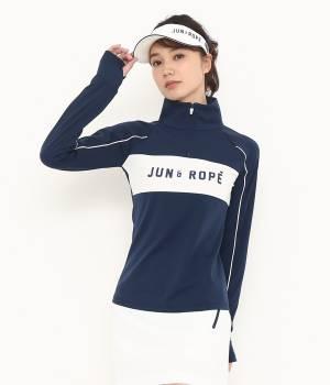 JUN&ROPÉ - ジュン アンド ロペ   【UVカット機能】【吸水速乾】ロゴプリントZIPプルオーバー