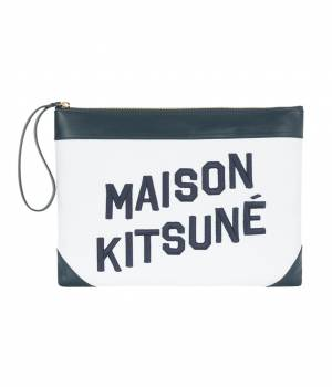 MAISON KITSUNÉ PARIS WOMEN - メゾン キツネ ウィメン | LARGE CLUTCH CANVAS