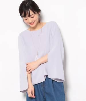 ViS - ビス | 羽根ネックレス付きフレア袖プルオーバー