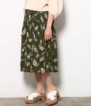 ViS - ビス | フェザープリントフェードアウトプリーツスカート