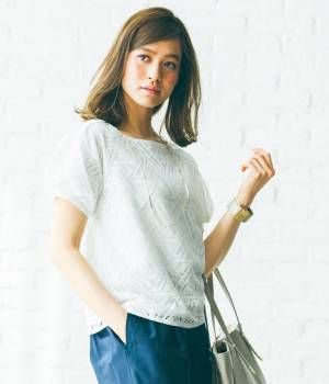 ViS - ビス   【with6月号掲載】幾何レースタックスリーブプルオーバー