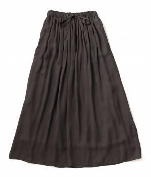 LE JUN WOMEN - ル ジュン  ウィメン | ヴィンテージサテンギャザーマキシスカート