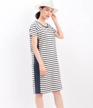 LE JUN WOMEN - ル ジュン  ウィメン   【Lolly's Laundry】border dress