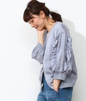 ViS - ビス | 袖フリル7分袖ブルゾン