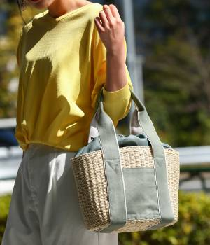 ViS - ビス | 【先行予約】ハンプハンドルペーパーカゴバッグ