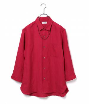 JUNRed - ジュンレッド | レーヨンリネン7分袖シャツ