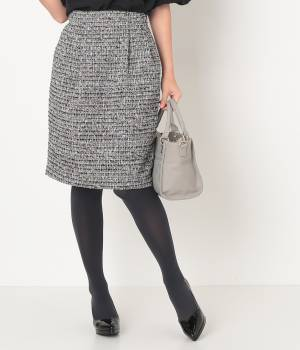ROPÉ PICNIC - ロペピクニック | ファンシーツイードタックコクーンスカート