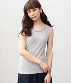 ViS - ビス | 【消臭機能】竹ビーズ衿タンクトップ