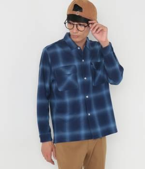 JUNRed - ジュンレッド   【samuraiELO 11月号掲載】ネルオンブレオープンカラーシャツ