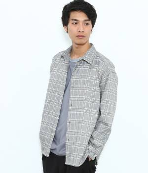 JUNRed - ジュンレッド   【予約】グレンチェックワイドシルエットシャツ