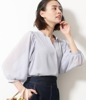 ViS - ビス | チュールバルーン袖ブラウス