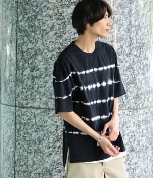 JUNRed - ジュンレッド   絞り染め半袖Tシャツ