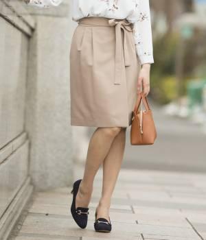 ViS - ビス   細リボンラップタイトスカート