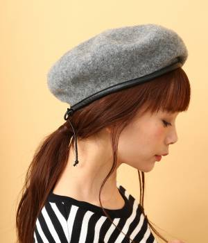 ViS - ビス | パイピングフェルトベレー帽